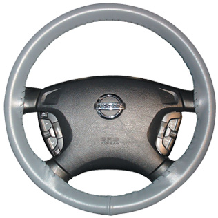 FOR NISSAN FRONTIER 02-13 PERF LEATHER STEERING WHEEL COVER CHOSEN COLOUR 2 STIT