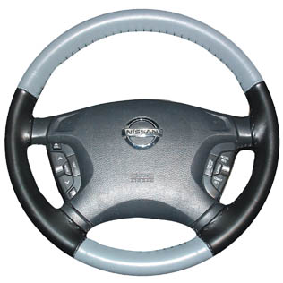 CHARCOAL Leather Steering Wheel Cover for Toyota Wheelskins 15 1//2 X 3 3//4