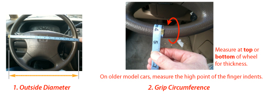 Size and Measuring guide. - Wheelskins Leather Steering ...